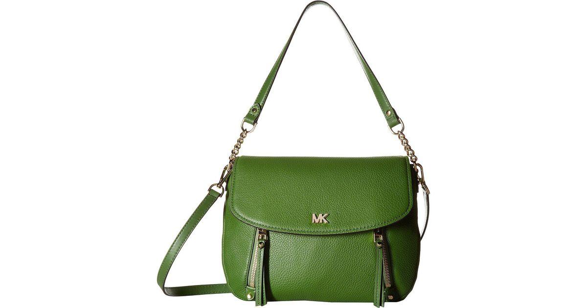536b1dfd017f Lyst - MICHAEL Michael Kors Evie Medium Shoulder Flap in Green