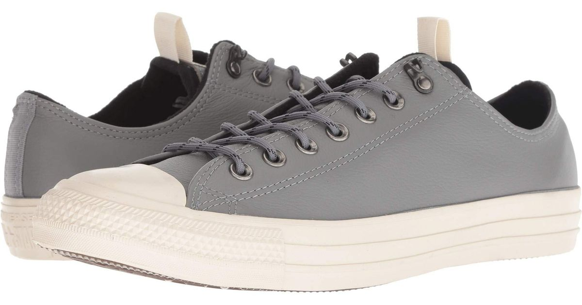 a1c760a4771 Lyst - Converse Chuck Taylor All Star Leather - Ox (mason black driftwood)  Lace Up Casual Shoes in Black for Men