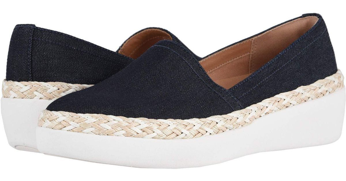 1b844b93e882 Lyst - Fitflop Casa Denim (denim jute white) Women s Shoes in Blue