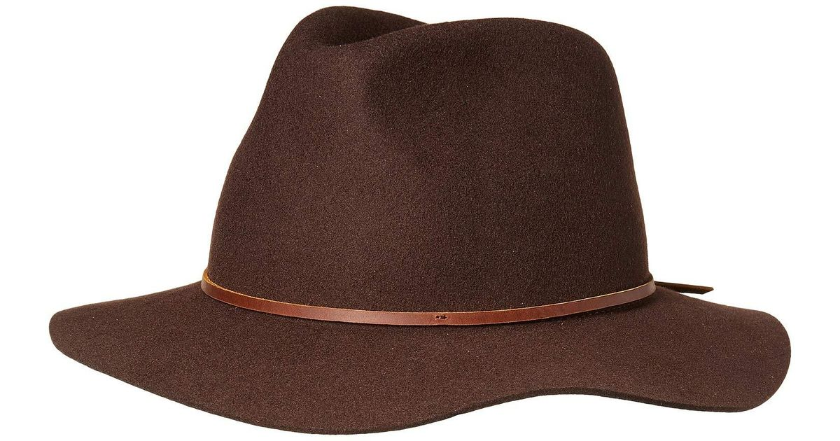 43b3791bbad74d Lyst - Brixton Wesley Fedora (heather/green) Traditional Hats in Brown for  Men