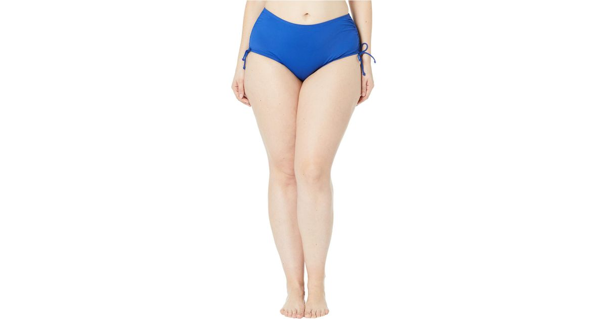 82cf05bb4f2 Lyst - 24th   Ocean Plus Size Solids Mid Waist Adjustable Tie Side Pant  Bottoms (cobalt) Women s Swimwear in Blue - Save 5%