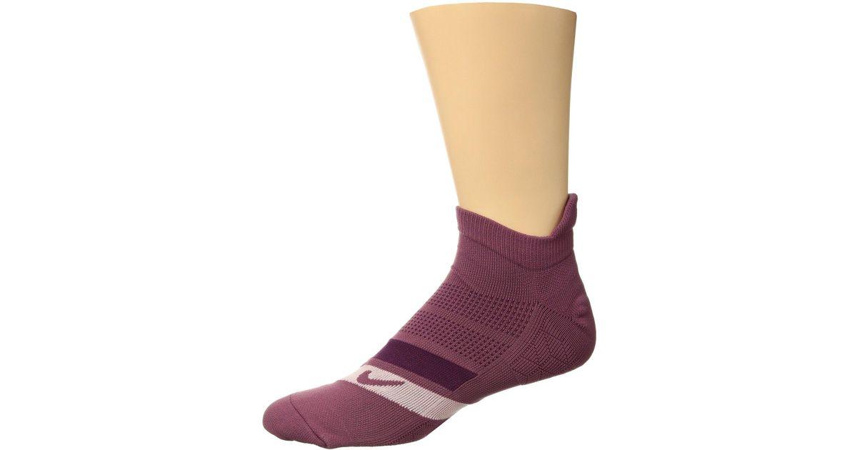 super popular 743e2 e0b1f Lyst - Nike Dri-fit Cushion Dynamic Arch No-show Running Socks  (black volt white) No Show Socks Shoes in Purple for Men
