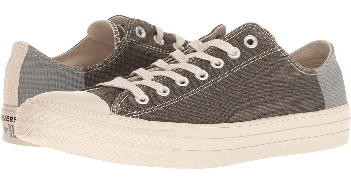 3c8d8a56e4e Lyst - Converse Chuck Taylor(r) All Star(r) Ox - Jute Americana (jute black cool  Grey) Classic Shoes in Gray for Men