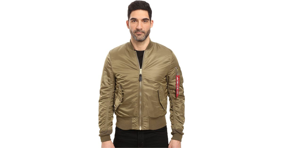 feb7ba0c7afc6 Lyst - Alpha Industries Ma-1 Slim Fit Flight Jacket (tonal Black Camo)  Men s Coat in Brown for Men