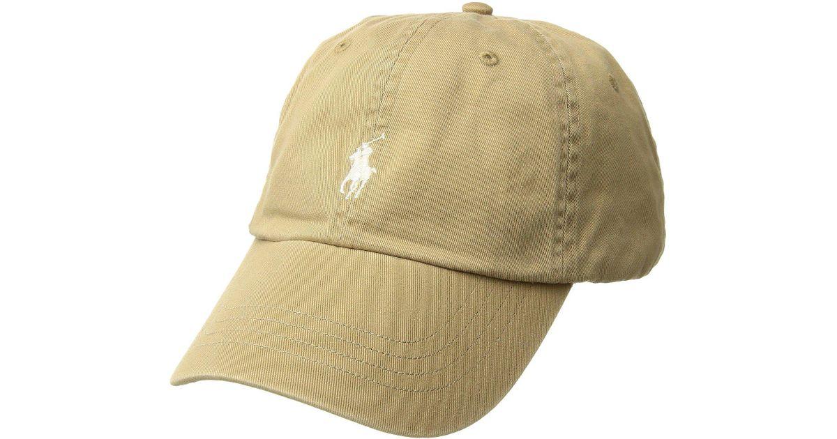 fdc4161a3d957a Lyst - Polo Ralph Lauren Cotton Chino Classic Sport Cap for Men