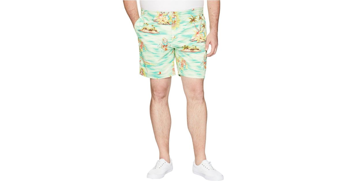 b6e6881dc5 Polo Ralph Lauren Big Tall Classic Fit Prepster Shorts (prepster Hawaiian) Shorts  in Green for Men - Save 54% - Lyst