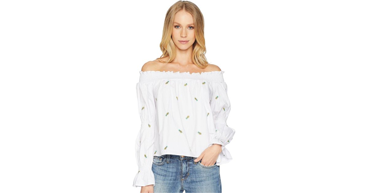f87fac15fc8788 Lyst - Bishop + Young Polynesian Bare Shoulder Top in White - Save 51%