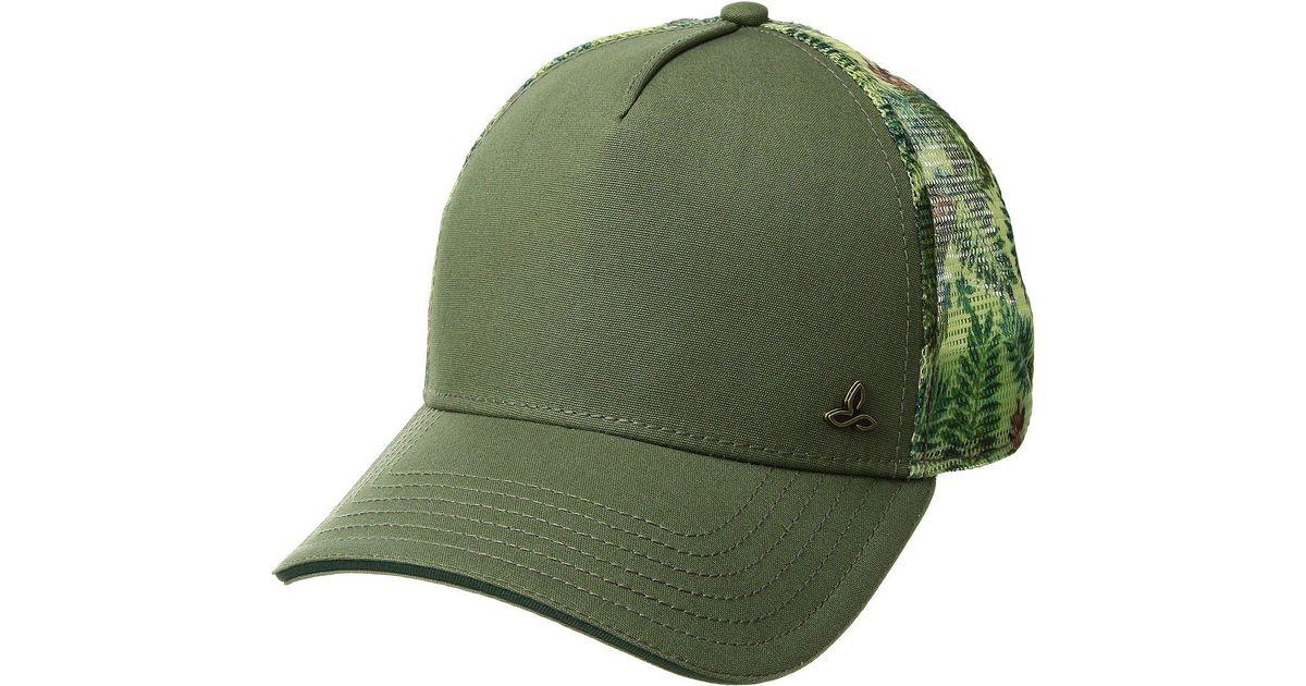 c02d9a5bd6c346 Lyst - Prana Idalis Trucker Hat (turtle Green) Caps in Green