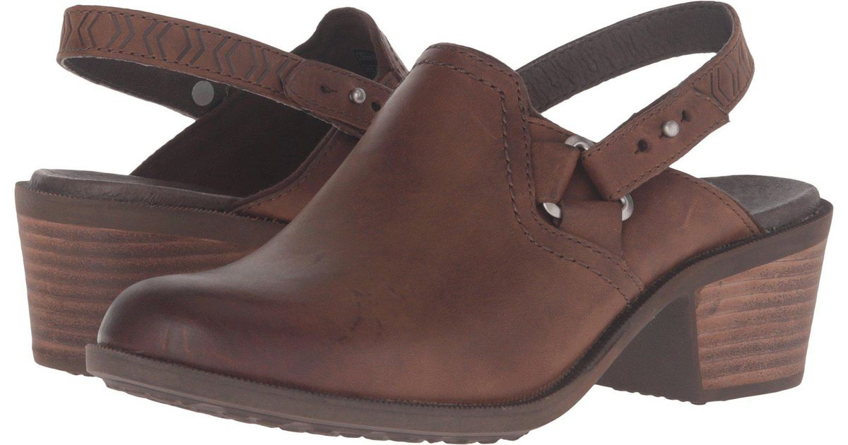 c7fade53527885 Lyst - Teva Foxy Clog Leather in Brown