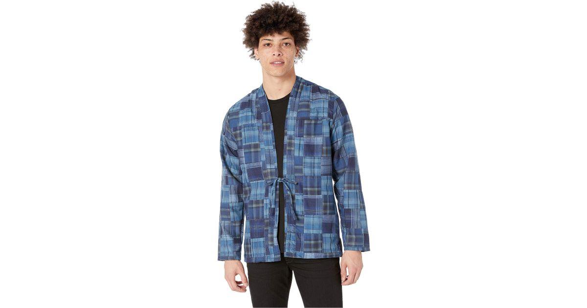 33728e1cab Lyst - Naked   Famous Kimono Shirt (kimono Chon indigo) Men s Clothing in  Blue for Men