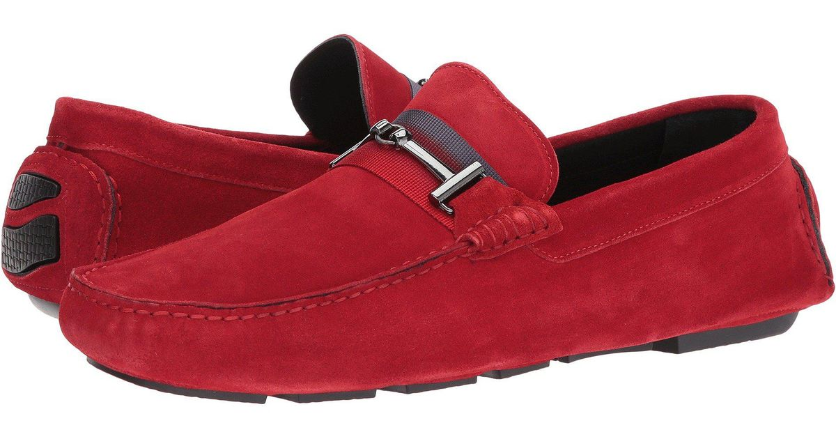 be69c1b6b85 Lyst - Bugatchi Monte Carlo Moccasin (red) Men s Shoes in Red for Men