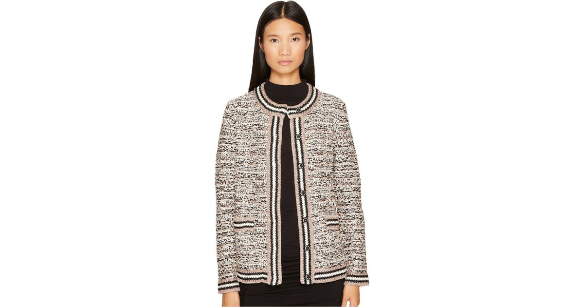 5e78173e6fd5 Lyst - M Missoni Lurex Tweed Jacket in Black