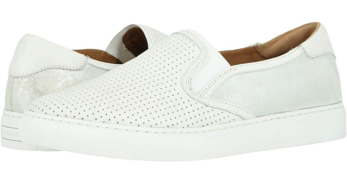 06a1d9a26033 Lyst - Trask Lillian (navy Metallic Camo Star Print italian Suede) Women s  Slip On Shoes in White