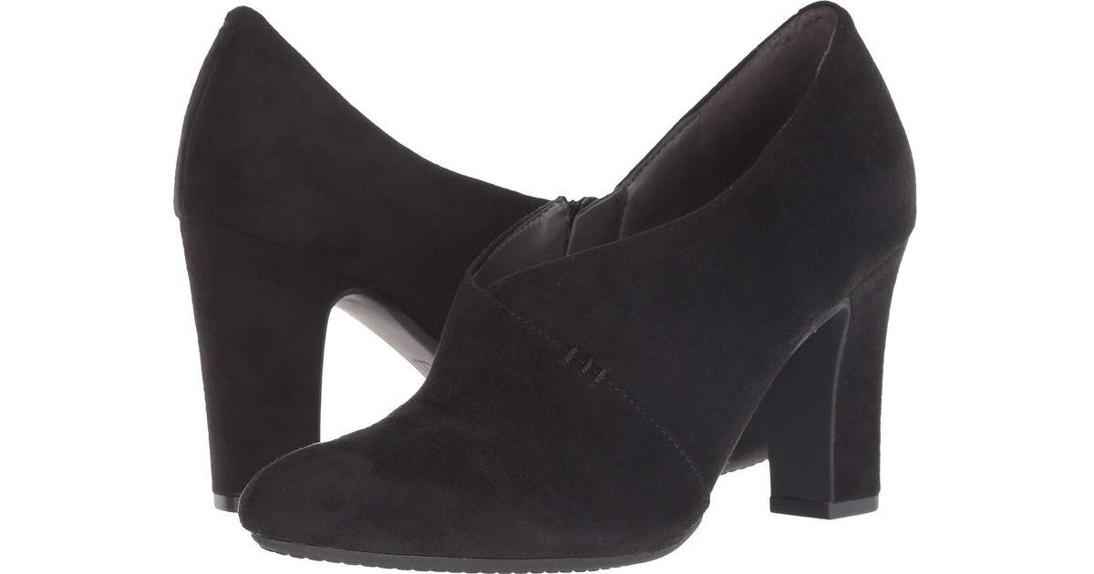 57e76507922 Lyst - Aerosoles Nametag (black Fabric) High Heels in Black