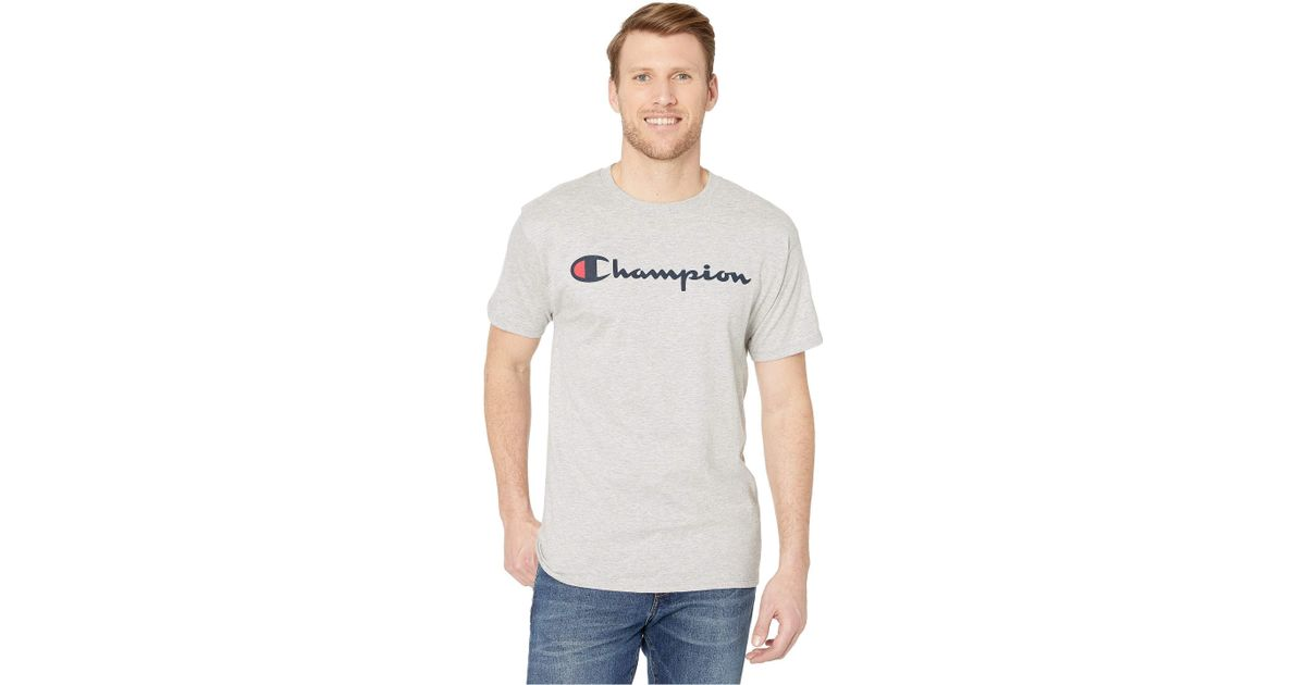 45404cf3 Lyst - Champion Classic Jersey Graphic Tee (black) Men's T Shirt in Gray  for Men