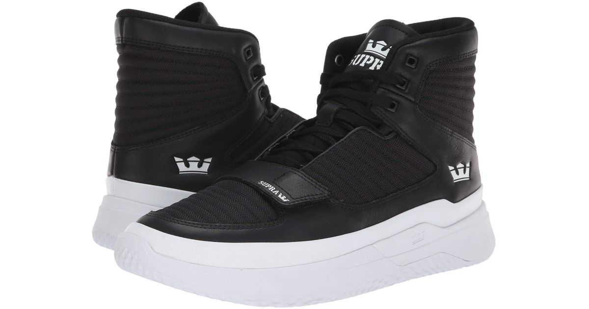 Lyst - Supra Theory (black white white) Men s Shoes in White for Men d2d25ef0b285