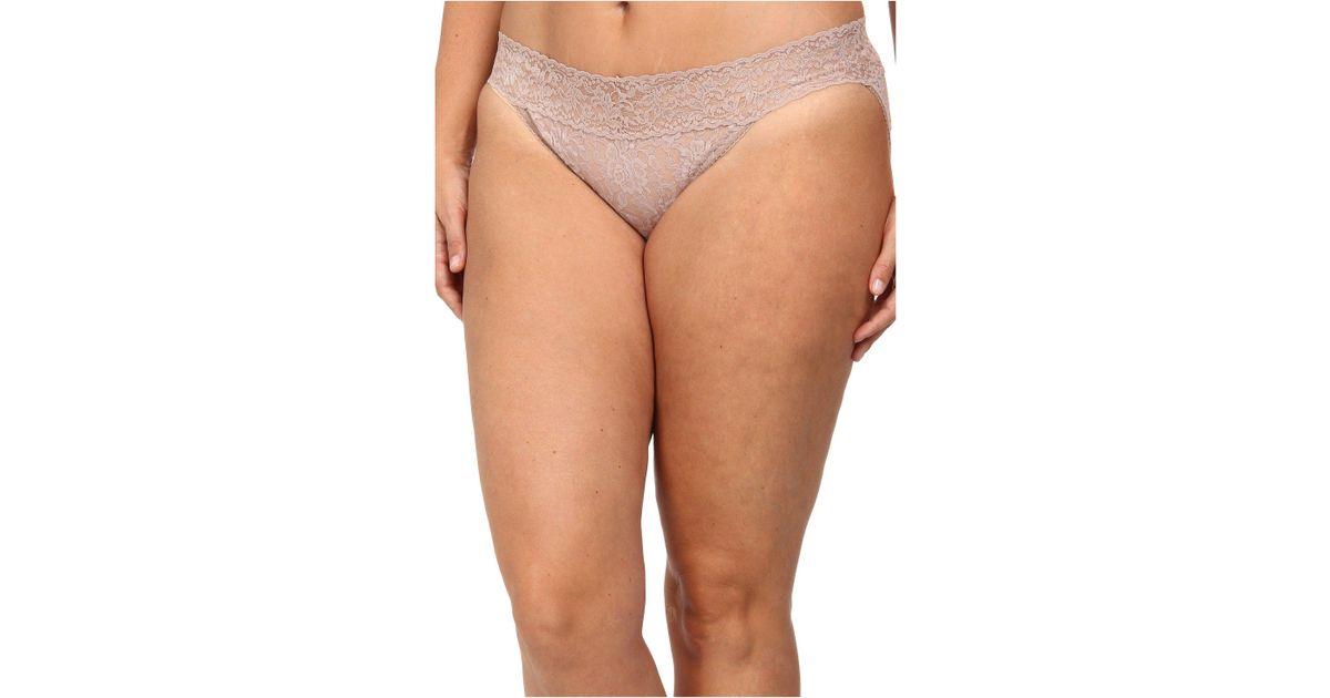 e5966eaaa90d Lyst - Hanky Panky Plus Size Signature Lace V-kini (chai) Women's Underwear  in Brown