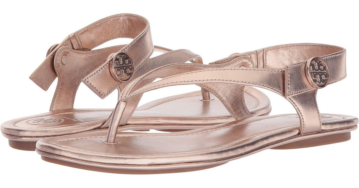 eb32887ca2a22 Lyst - Tory Burch Minnie Travel Sandal in Pink