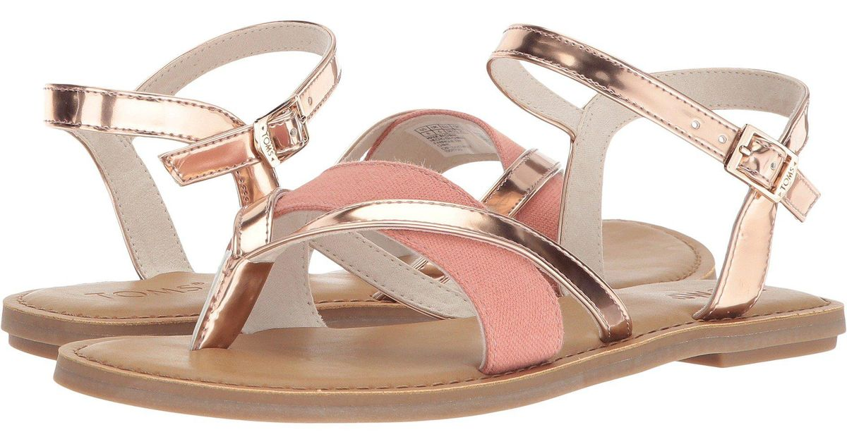 d2b20e5968c Lyst - TOMS Lexie Strappy Sandals in Pink - Save 42%