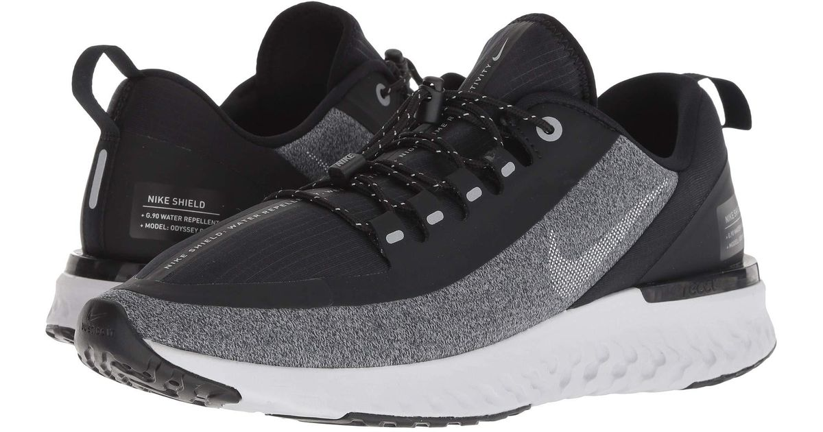 01716291424a Lyst - Nike Odyssey React Shield (blue Void metallic Silver black) Men s  Running Shoes in Gray for Men