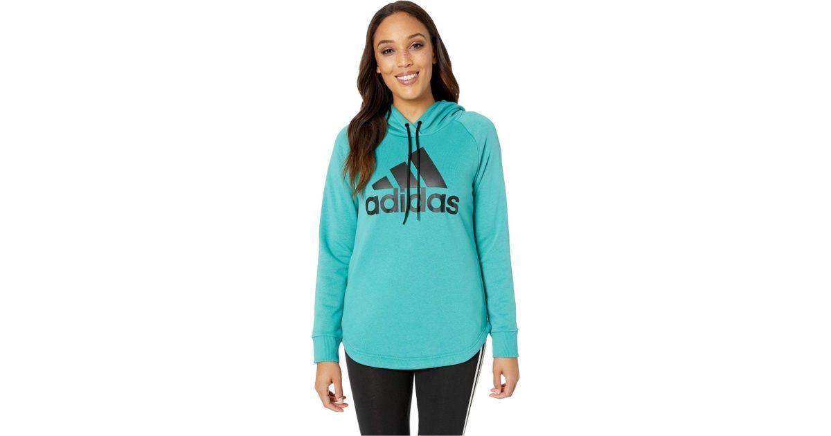 ccaa1b0d25392 Lyst - adidas Must Have Hoodie (medium Grey Heather black) Women s  Sweatshirt in Green