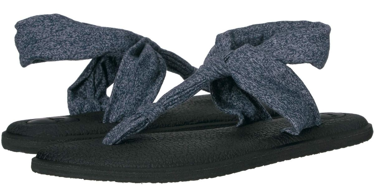 b717f8871c49b Lyst - Sanuk Yoga Sling Ella (navy Peony) Women s Sandals