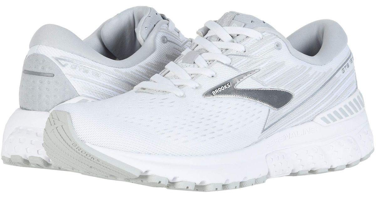 e4fd4e8ff4d Lyst - Brooks Adrenaline Gts 19 (black purple coral) Women s Running Shoes  in White