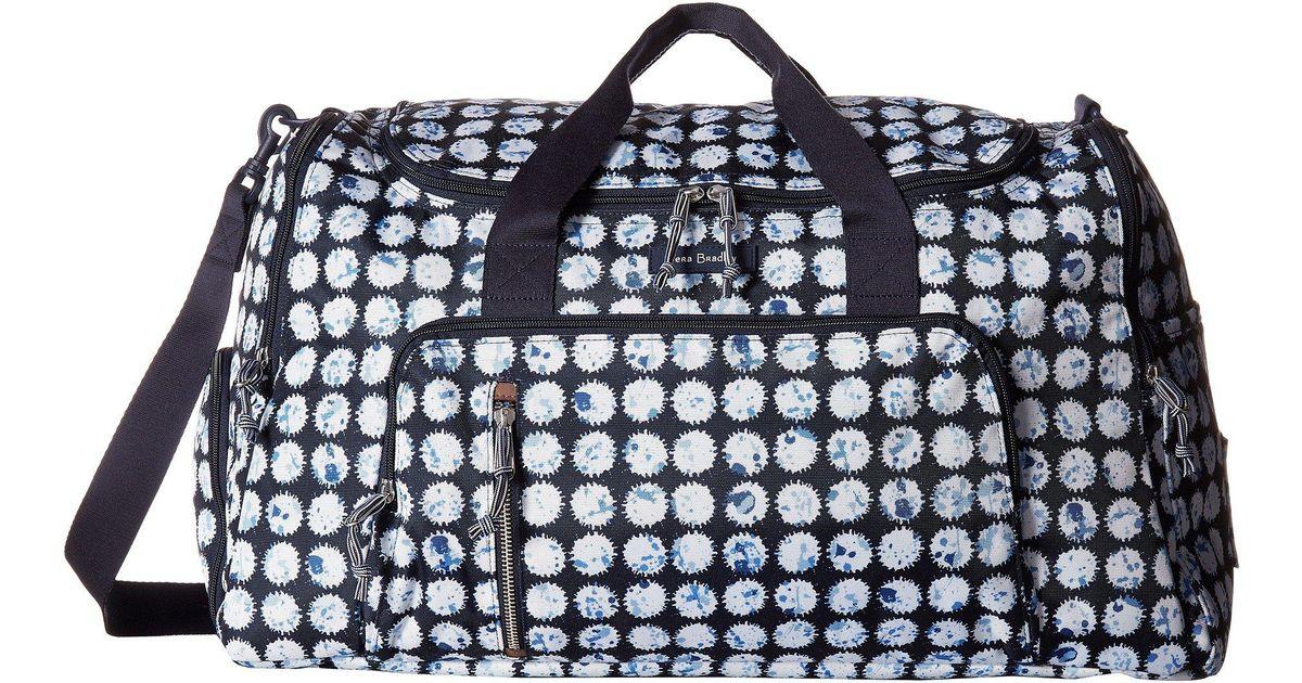 Lyst Vera Bradley Lighten Up Ultimate Gym Bag Splash Dot Bags In Blue