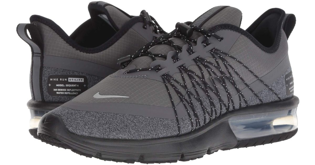 new concept 83261 542be Nike Air Max Sequent 4 Shield (black anthracite white) Women s Running Shoes  in Metallic - Lyst