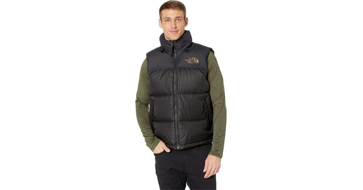 fa1036c0aa23 Lyst - The North Face 1996 Retro Novelty Nuptse Vest (tnf Black Macrofleck  Print) Men s Vest in Black for Men