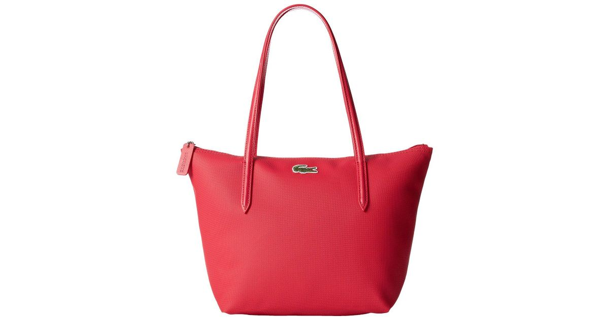 997f2647f09 Lacoste L.12.12 Concept Medium Small Shopping Bag in Pink - Lyst