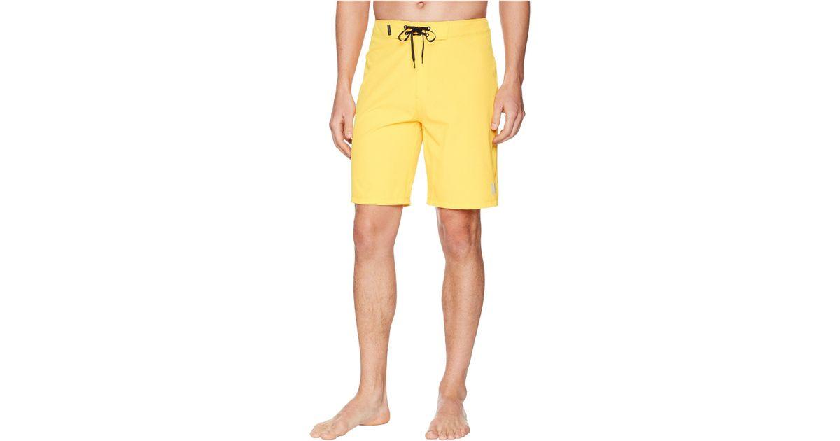 02ed99f3d5 Hurley Phantom One Only 20 Stretch Boardshorts (buff Gold) Men's Swimwear  in Yellow for Men - Lyst