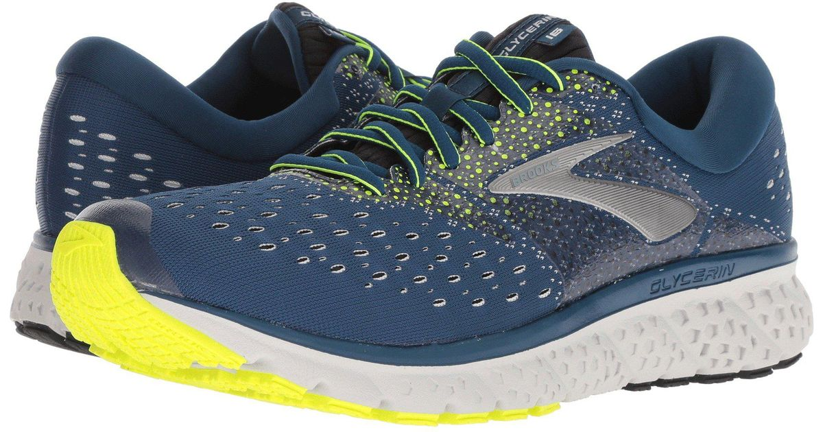 32a082436b6a5 Lyst - Brooks Glycerin 16 (reflective Black white grey) Men s Running Shoes  in Blue for Men