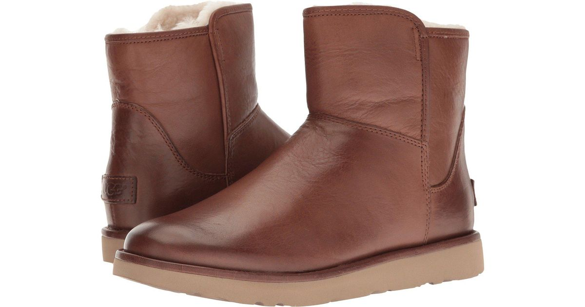 Lyst - UGG Abree Mini Leather (bruno) Women s Boots in Brown 04a337cc4