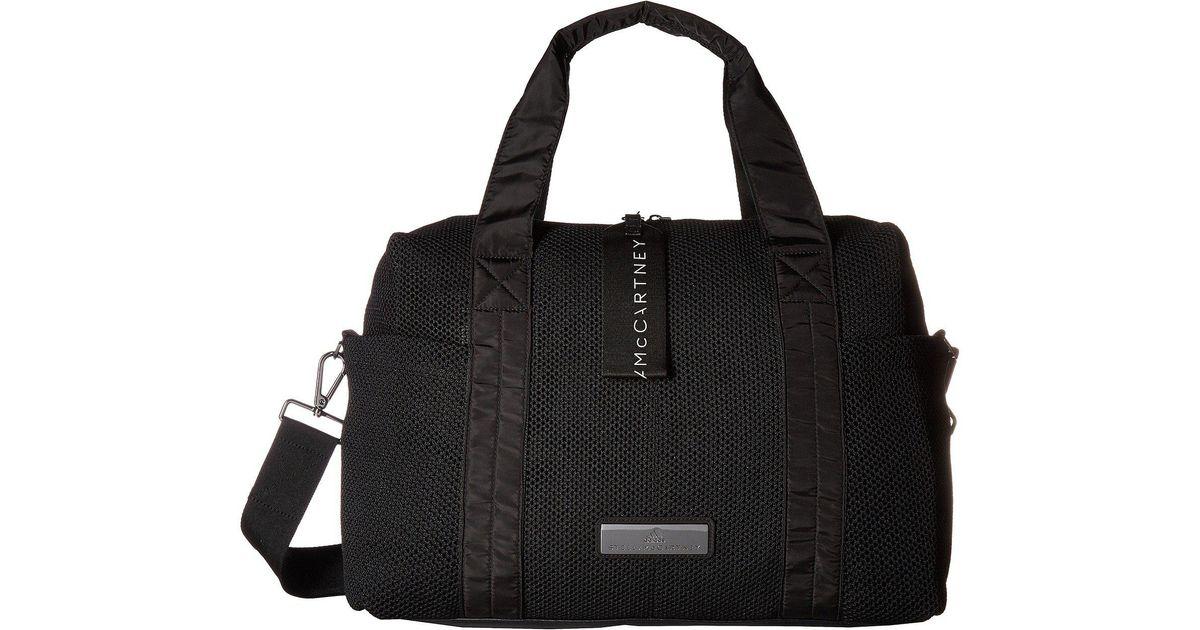 Lyst - adidas By Stella McCartney Shipshape Bag (black white gunmetal) Bags  in Black 6085c2a557203