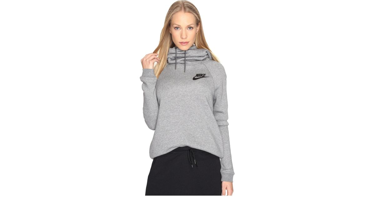 6e2598d795c7 Lyst - Nike Sportswear Rally Funnel Neck Sweatshirt in Gray