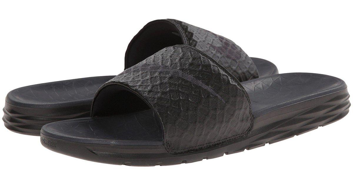 2a9e20dd476 Lyst - Nike Benassi Solarsoft Slide 2 (dark Grey black) Men s Slide Shoes  in Black for Men