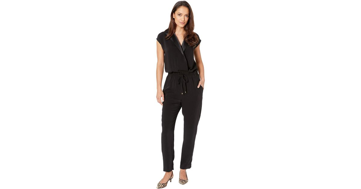 d42142856414 Lyst - Lauren by Ralph Lauren Crepe Jumpsuit (polo Black) Women s Jumpsuit    Rompers One Piece in Black