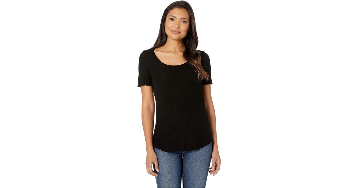 50cf998166ff Lyst - AG Jeans Tanner U-neck Shirt (true Black) Women s Clothing in Black