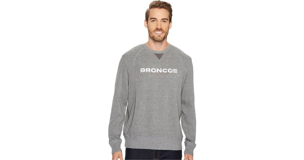 more photos aaab1 f7c23 Tommy Bahama - Gray Denver Broncos Nfl Stitch Of Liberty Crew Sweatshirt  for Men - Lyst