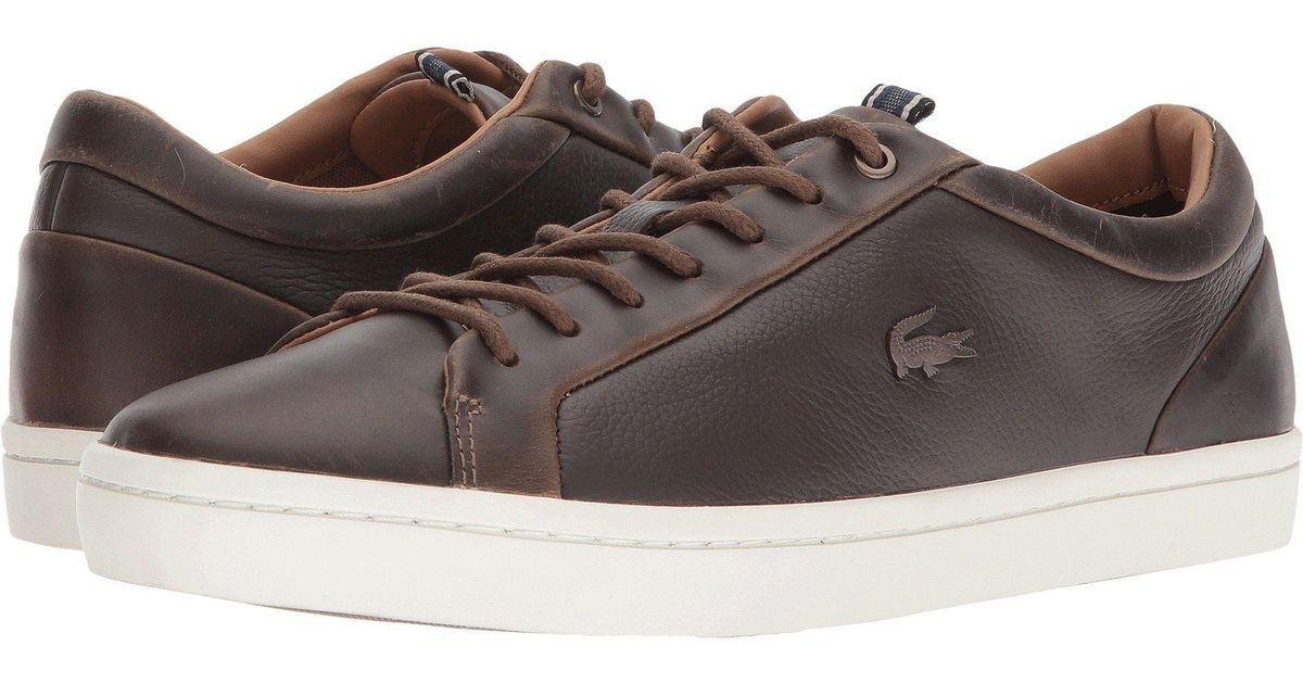 aeea75325 Lyst - Lacoste Straightset 118 1 (grey off-white) Men s Shoes in Brown for  Men