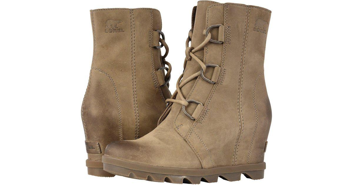 7ef4c4fbe9f4 Lyst - Sorel Joan Of Arctictm Wedge Ii (black) Women s Waterproof Boots in  Brown