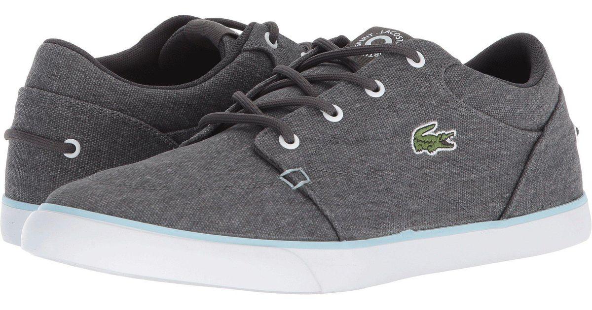 3eaeef961 Lyst - Lacoste Bayliss 118 3 (dark Grey light Blue) Men s Shoes in Gray for  Men