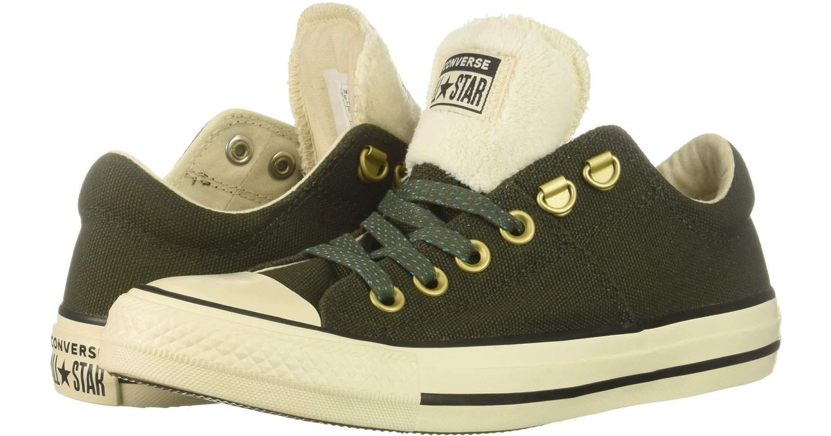 bdde6f33ea46 Lyst - Converse Chuck Taylor All Star Madison - Ox (utility Green natural  Ivory black) Women s Lace Up Casual Shoes