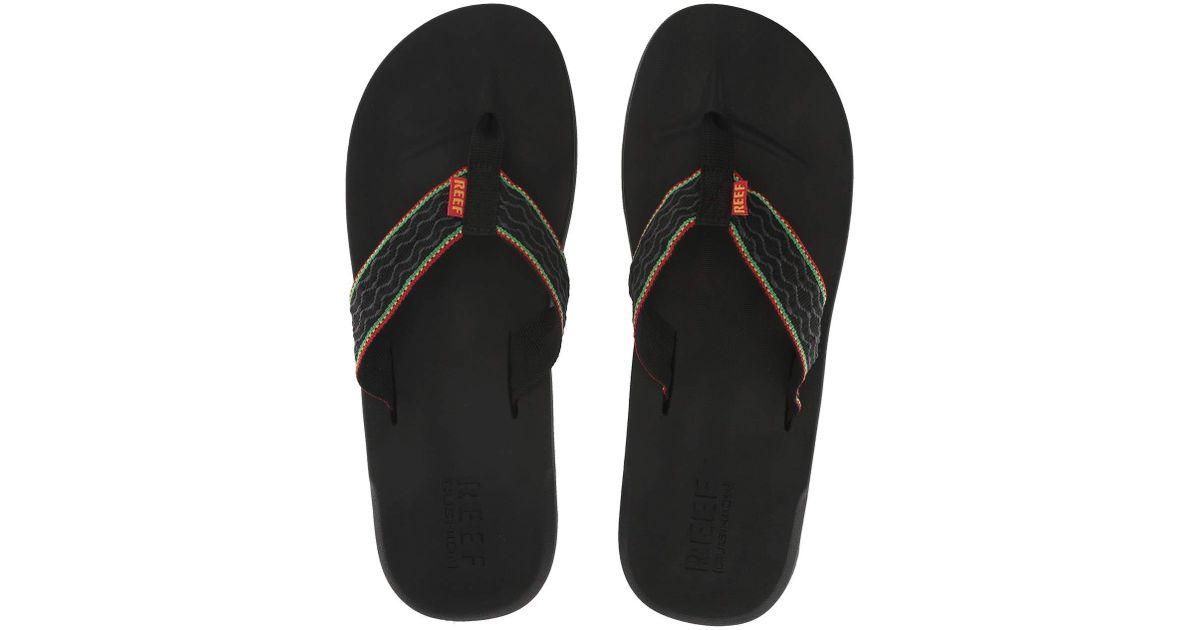 For Reef Men SmoothyrastaMen's Multicolor Sandals Lyst Cushion q45L3jAR