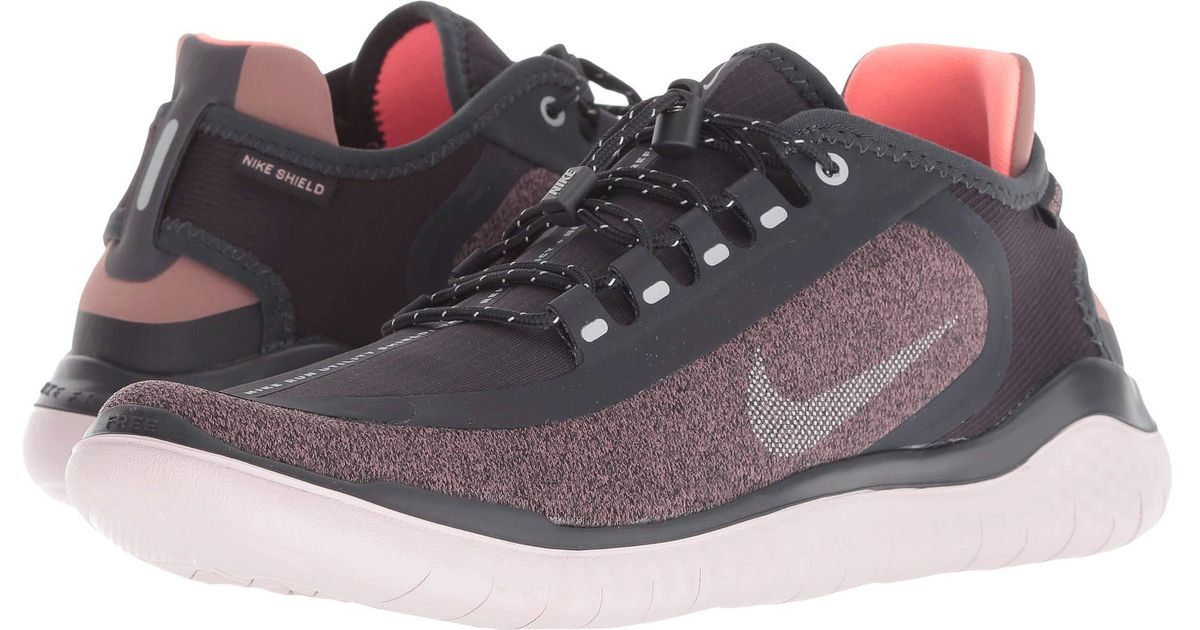 promo code ec71e b5c7f Nike Free Rn 2018 Shield (black/metallic Silver/cool Grey) Women's Running  Shoes - Lyst