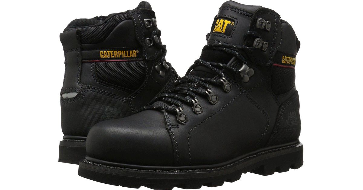 Lyst Caterpillar Alaska 20 Steel Toe Black Mens Work Boots In