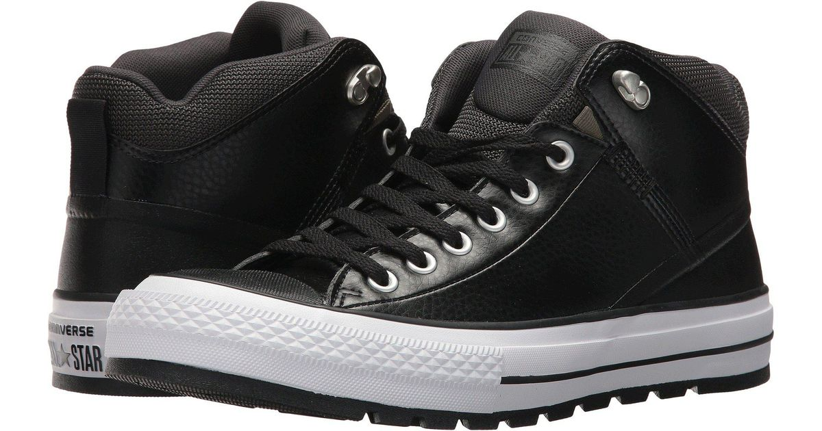 e23b4234d8b4 Lyst - Converse Chuck Taylor® All Star® Street Boot Leather Hi in Black for  Men