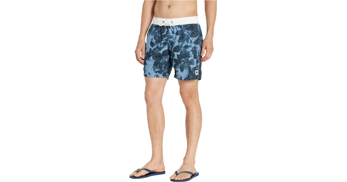2362422cf4406 G-Star RAW Dirik All Over Swim Shorts (delft/dark Navy All Over) Men's  Swimwear in Blue for Men - Lyst