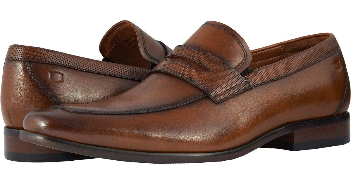 5b96d2aeca1 Lyst - Florsheim Postino Moc Toe Penny Loafer (cognac Smooth perf) Men s  Slip-on Dress Shoes in Brown for Men
